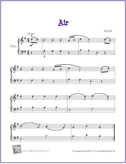 Air (Mozart) | Free Easy Piano Sheet Music