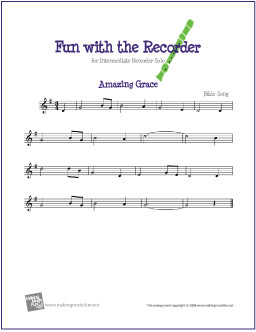 graphic regarding Free Printable Piano Sheet Music for Amazing Grace called Extraordinary Grace Cost-free Simple Recorder Sheet Songs