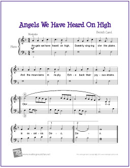 angels we have heard on high music sheet free