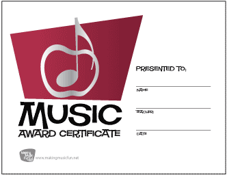 Silver Apple Music Award Certificate (Red)