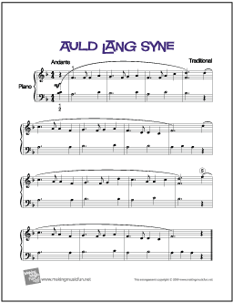 image about Auld Lang Syne Lyrics Printable known as Auld Lang Syne Cost-free Basic Piano Sheet Audio