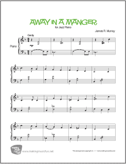Away in a Manger sheet music for Piano - 8notes.com