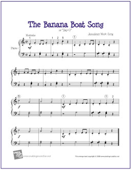 The Babana Boat Song With Fun Video For Kids