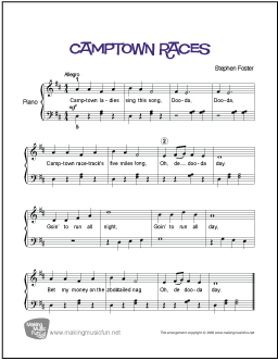Camptown Races (Foster) | Easy Piano Sheet Music - MakingMusicFun.net