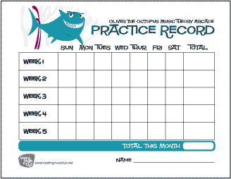 Terrible image within music practice chart printable free