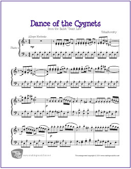 Dance of the Cygnets (Tchaikovsky) | Free Easy Piano Sheet Music