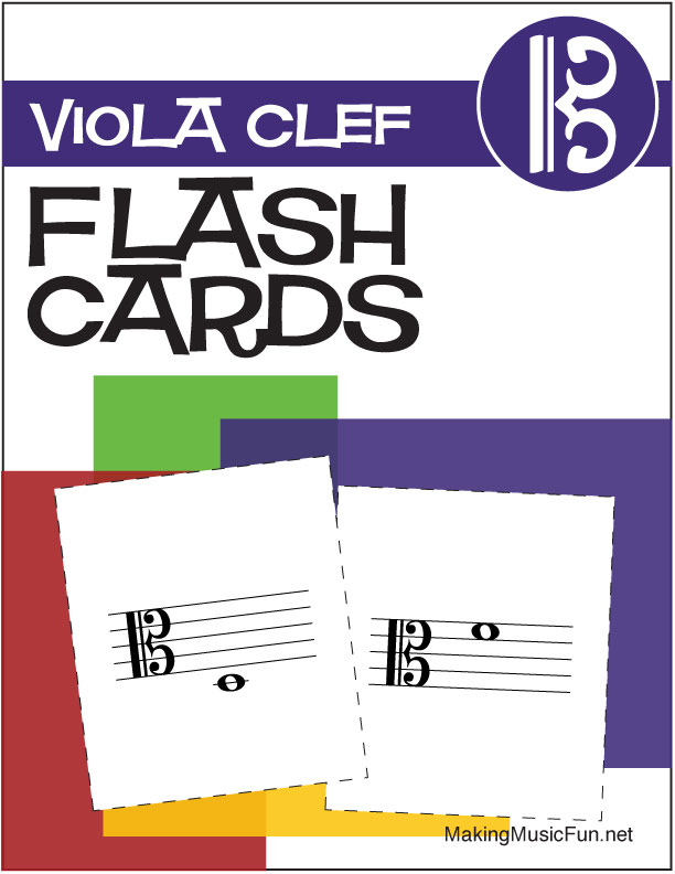 photograph about Music Note Flashcards Printable named Audio Flashcards Viola Clef Observe Names (Electronic Print)