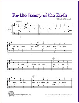 For the beauty of the earth guitar chords
