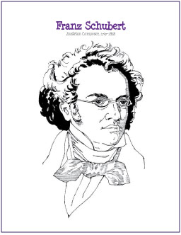 printable mozart coloring pages - photo#18