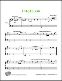 fur elise sheet music with letters f 252 r elise beethoven beginner piano sheet 21923 | fur elise beginner piano