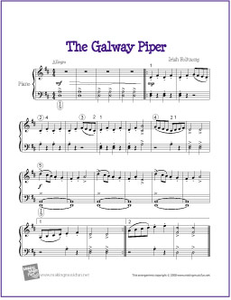 The Galway Piper Free Easy Piano Sheet Music