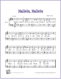 image about Hallelujah Piano Sheet Music Free Printable known as Hallelu, Hallelu Free of charge Straightforward Piano Sheet Audio