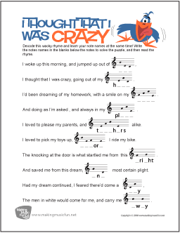 Music Theory Worksheets and More | MakingMusicFun net