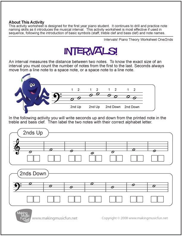 Music Theory Worksheets Flash Cards and Games for Kids – Piano Theory Worksheets