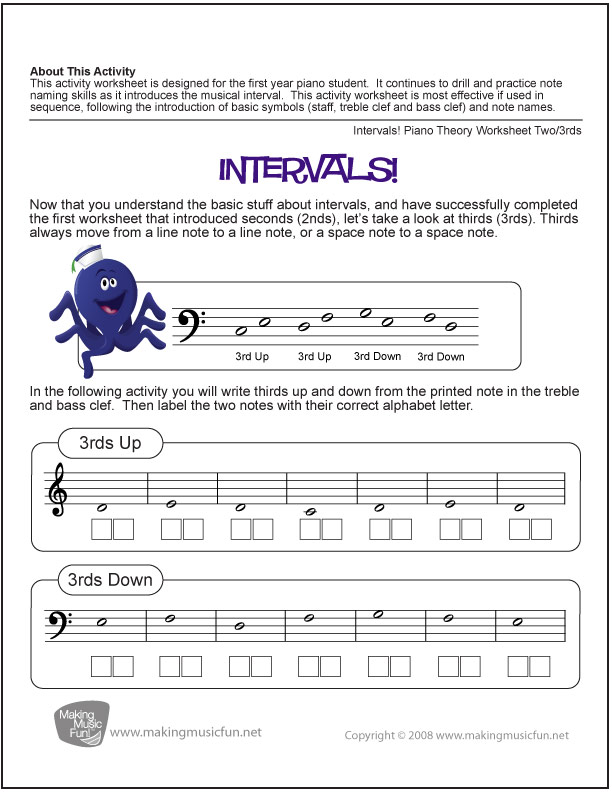 music intervals worksheet photos leafsea. Black Bedroom Furniture Sets. Home Design Ideas