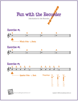 Introduction to the Recorder: 3 Exercises | Free Sheet Music