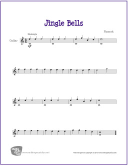 Jingle Bells | Free Easy Guitar Sheet Music (Digital Print)