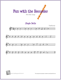 image about Jingle Bells Lyrics Printable named Jingle Bells Absolutely free Starter Soprano Recorder Sheet New music