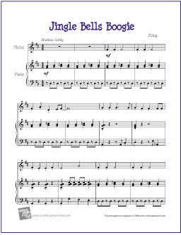 jingle bells violin sheet with letters jingle bells boogie free beginner violin sheet 423