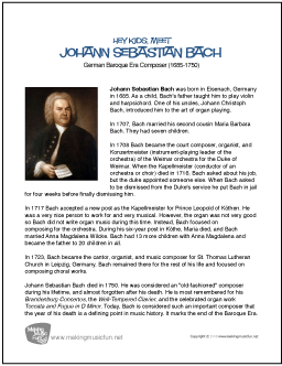 a biography of js bach essay