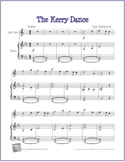 The Kerry Dance | Free Easy Alto Saxophone Sheet Music