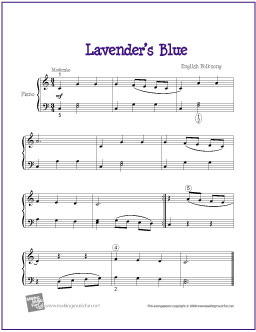 Lavender's Blue | Free Easy Piano Sheet Music
