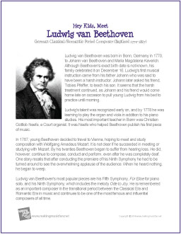 the life and early musical works of ludwig van beethoven Ludwig van beethoven was born in bonn, germany, on december 16, 1770 he was the eldest of three children of johann and maria magdalena van beethoven his father, a musician who liked to drink, taught him to play piano and violin young ludwig was often pulled out of bed in the middle of the night .