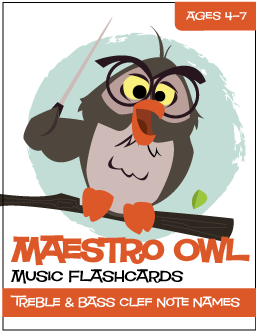 "photograph relating to Printable Music Note Flash Cards referred to as Maestro Owlâ""¢ New music Flashcards Observe Names (Electronic Print)"