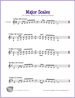 photograph regarding Scales Printable known as Primary Scales for Clarinet No cost Sheet Tunes
