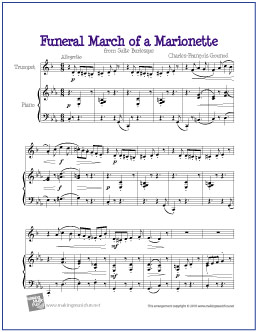 Funeral March Of A Marionette Free Easy Trumpet Sheet Music