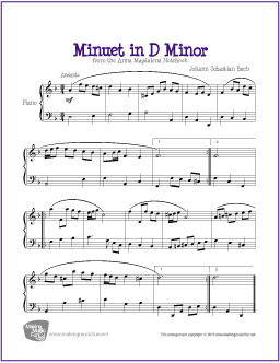 Songs In D Minor : minuet in d minor bach free easy piano sheet music ~ Hamham.info Haus und Dekorationen