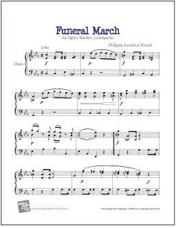 Funeral March (Mozart) | Free Easy Piano Sheet Music