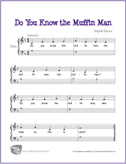 Do You Know The Muffin Man Free Beginner Piano Sheet Music