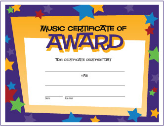 Free Music Award Certificates | MakingMusicFun.net