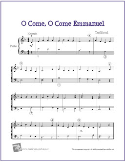 O Come, O Come Emmanuel | Free Easy Piano Sheet Music