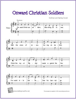 Onward Christian Soldiers | Free Easy Piano Sheet Music
