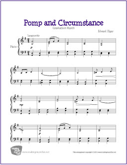 Pomp and circumstance elgar free easy piano sheet music for Pomp and circumstance