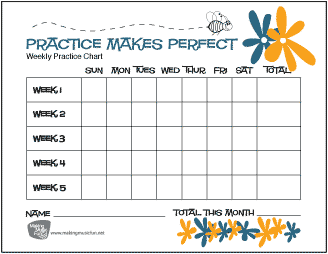 Accomplished image inside music practice chart printable free