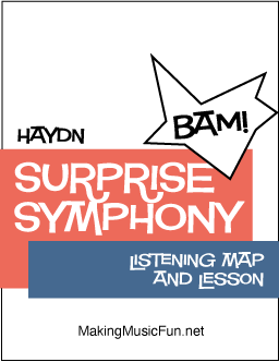 Surprise Symphony Haydn Listening Map and Lesson Digital Print