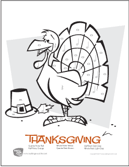 Thanksgiving | Free Color-by-Note Rhythm Worksheet (Digital Print)