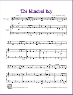 The Minstrel Boy (Celtic) | Free Easy Trumpet Sheet Music