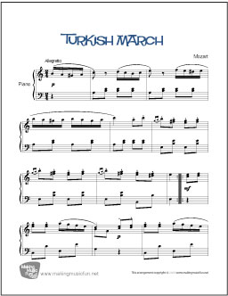 Turkish March (Mozart) | Easy Piano Sheet Music (Digital ...