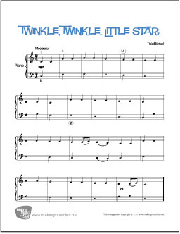 Twinkle, Twinkle Little Star | Free Easy Piano Sheet Music