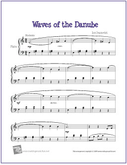 Waves of the Danube (Ivanovici) | Free Easy Piano Sheet Music
