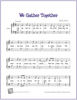We Gather Together | Free Easy Harp Sheet Music ...