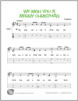 We Wish You A Merry Christmas Song.We Wish You A Merry Christmas Easy Guitar Sheet Music Tab
