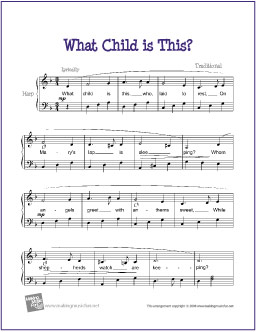 photo about Free Printable Lap Harp Music Cards called What Baby is This? No cost Simple Harp Sheet Tunes