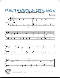 When the Saints Go Marching In | Free Piano Sheet Music (Digital ...